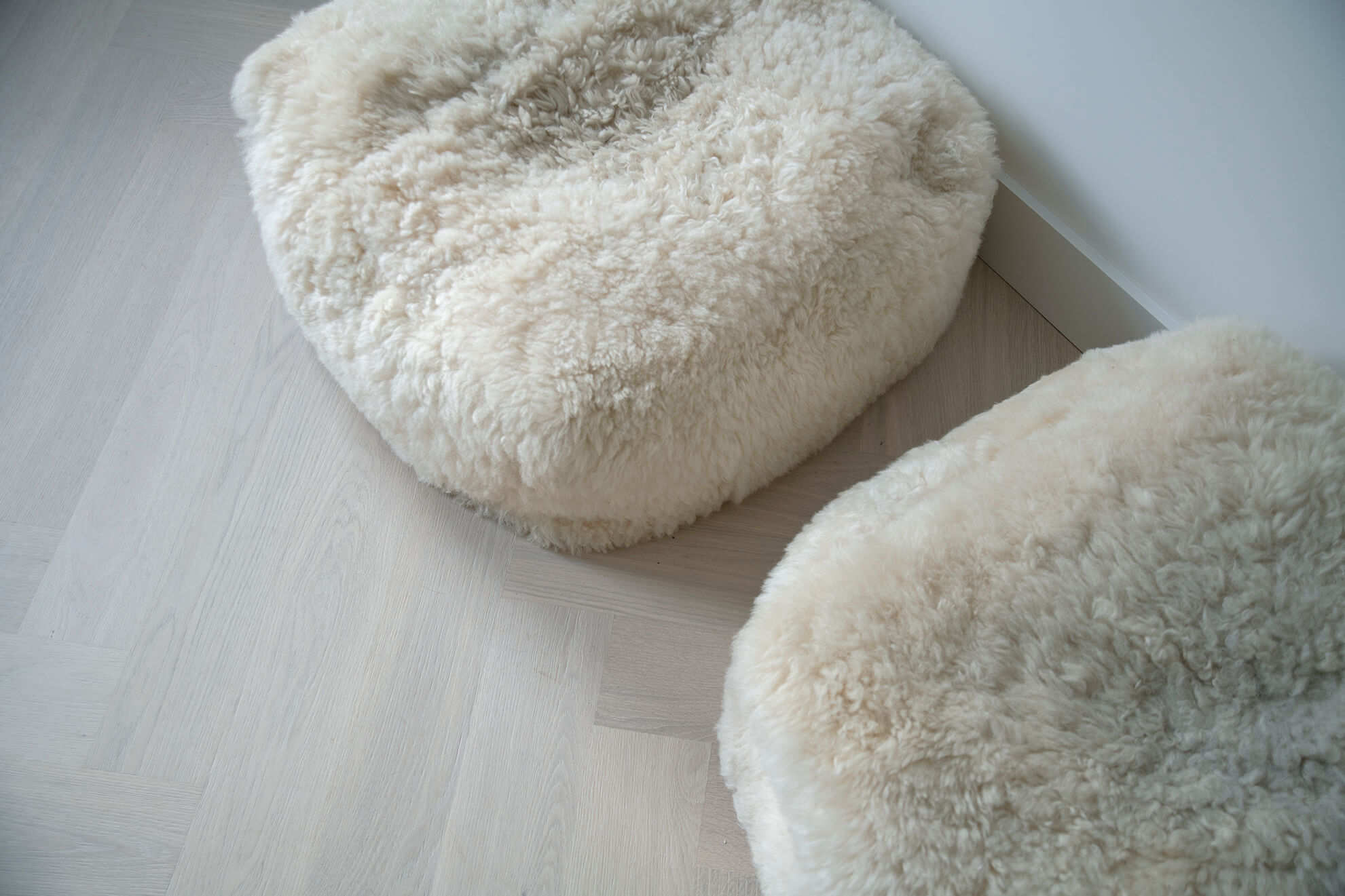 Witte visgraatvloer Bauwerk Farina